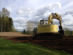 preparing a site with excavation